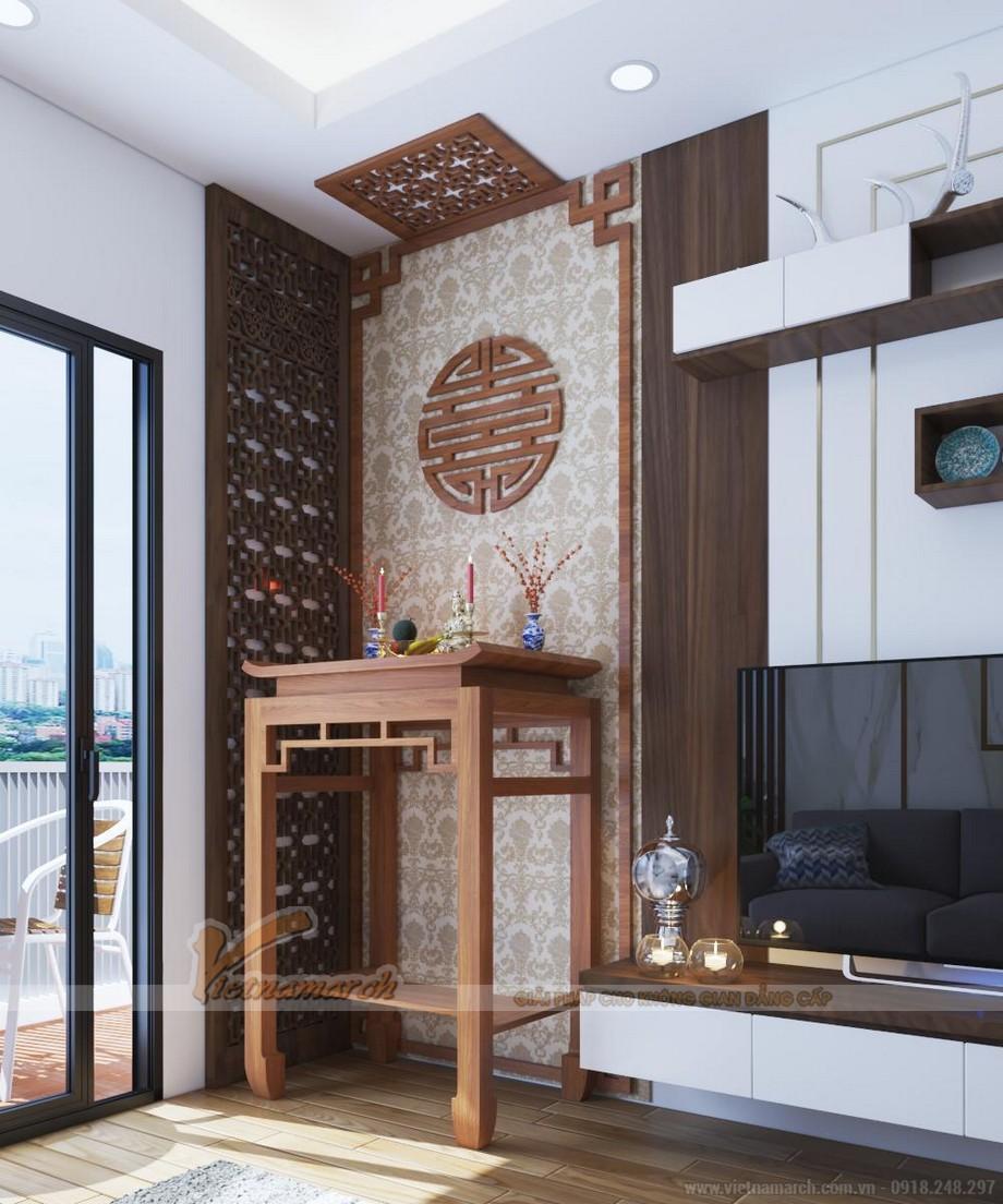 Đối với chung cư có diện tích nhỏ hoặc rất nhỏ như chung cư mini thì sự lựa chọn bàn thờ kích thước 880, 1070 là hợp lý