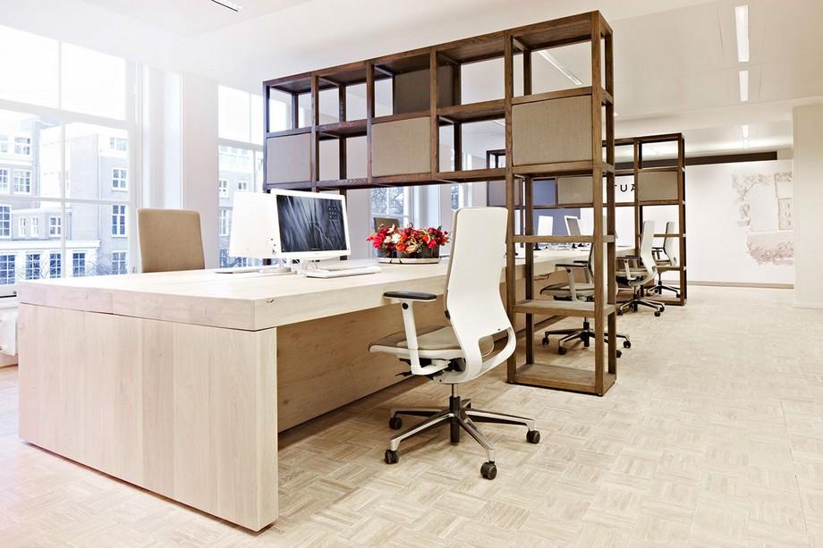 Thiết kế bàn làm việc nhân viên trong văn phòng mỹ phẩm