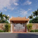Bản vẽ thiết kế nhà thờ 75m2 chuẩn phong thủy của dòng họ Nguyễn Văn tại Ứng Hòa Hà Tây