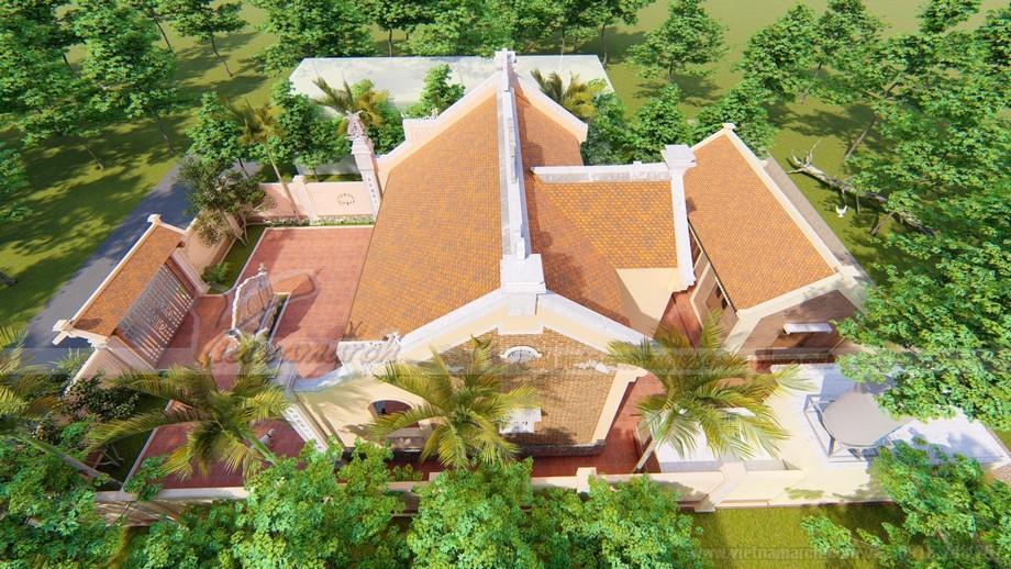 Thiết kế nhà thờ họ 3 gian 2 mái đẹp