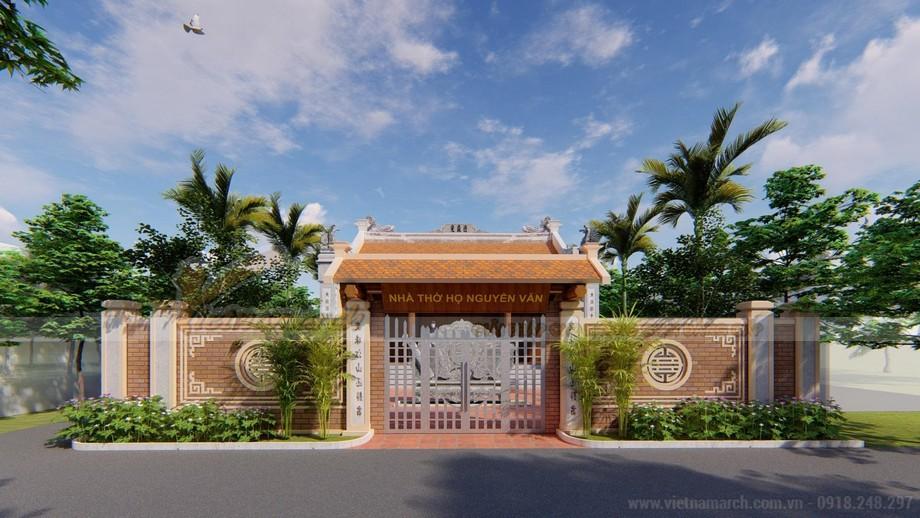 Mẫu thiết kế nhà thờ họ mang đậm nét văn hóa truyền thống dân tộc của dòng họ Nguyễn Văn