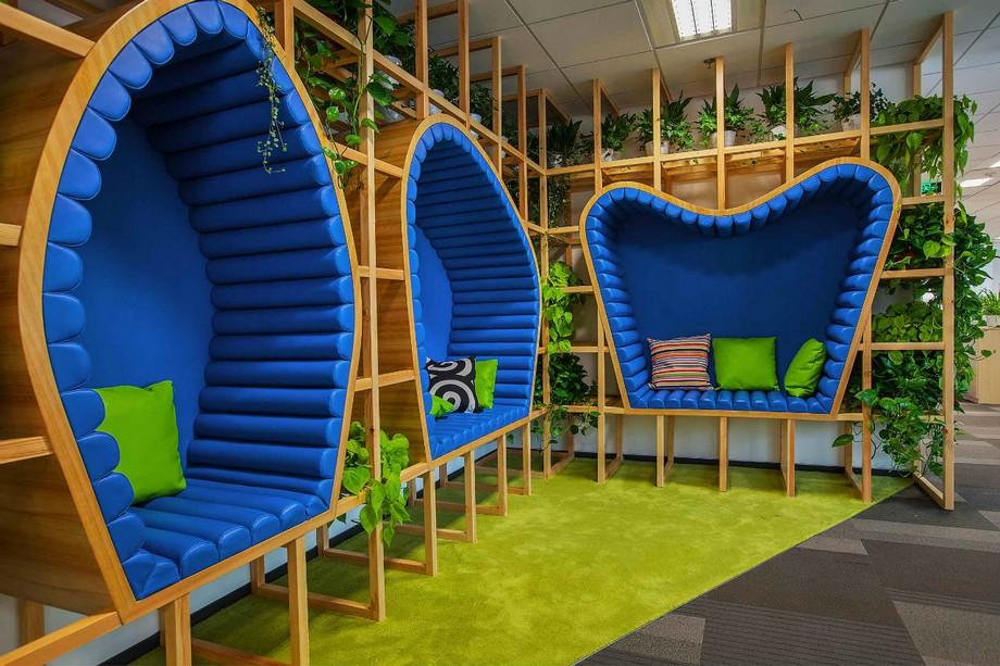 không gian đột phá trong Văn phòng FunPlus, nơi các nhân viên có thể thư giãn