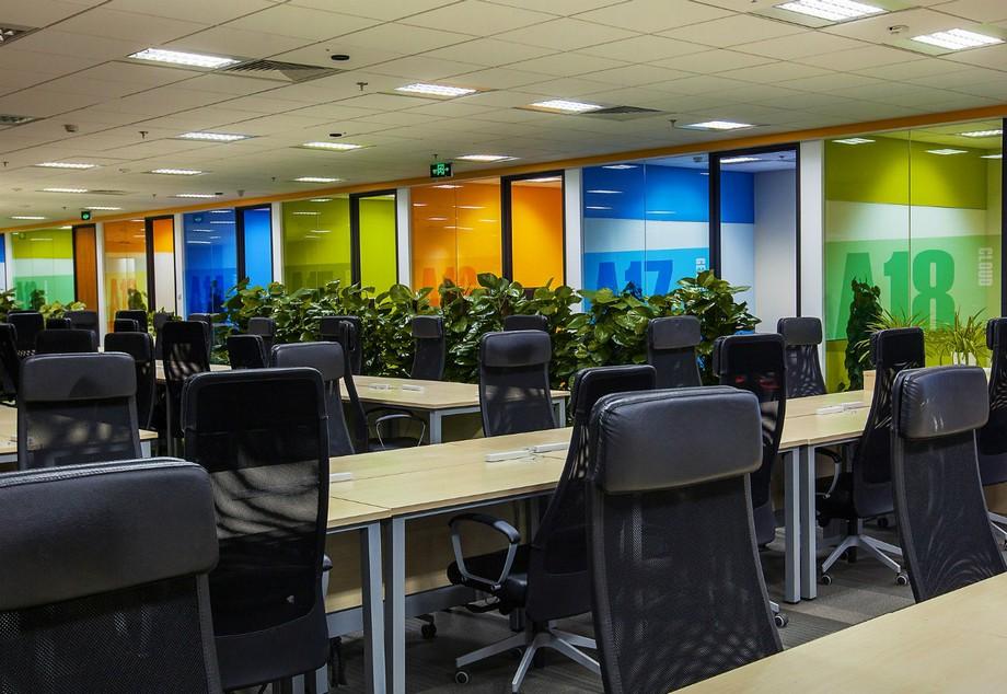 Thiết kế nội thất phòng làm việc chung trong công ty