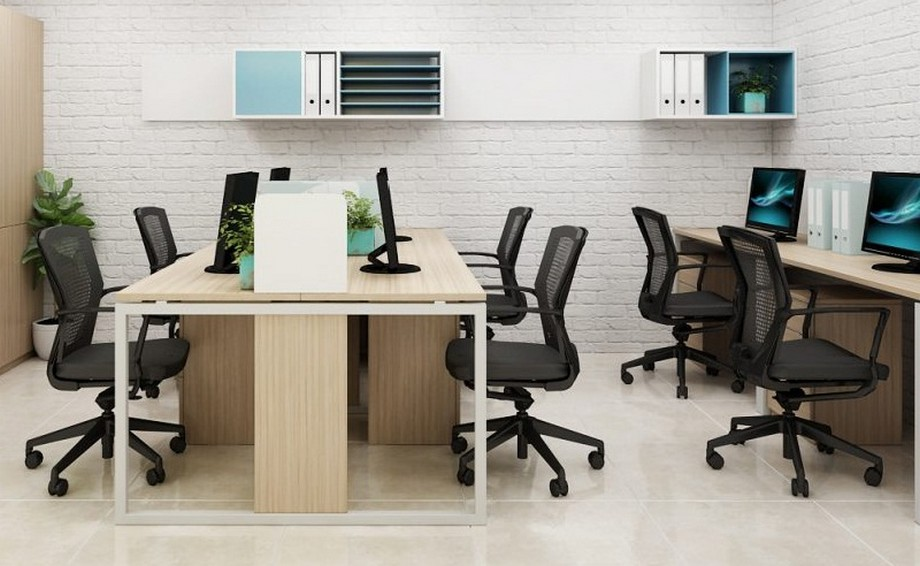 Sử dụng sơn tường màu sáng khi thiết kế văn phòng 30m2