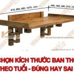 Chọn kích thước bàn thờ theo tuổi – Quan niệm đúng hay sai?