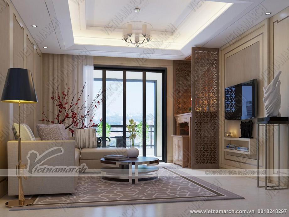 Thiết kế phòng khách có bàn thờ cho nhà chung cư