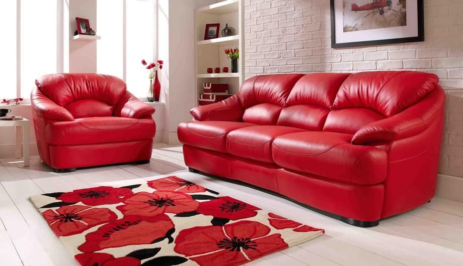 Thiết kế phòng khách sành điệu hơn với sofa da