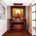 Cách bố trí ban thờ phật và ban thờ gia tiên trên cùng 1 bàn thờ