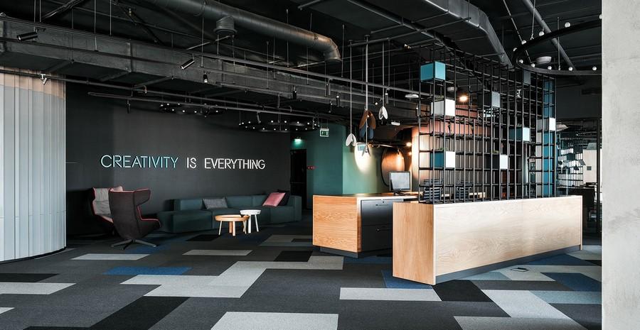 Cách thiết kế sảnh văn phòng, quầy lễ tân đẹp, hiện đại