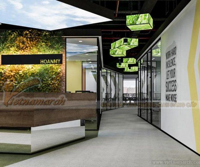 Thiết kế văn phòng công ty Hoàn Mỹ