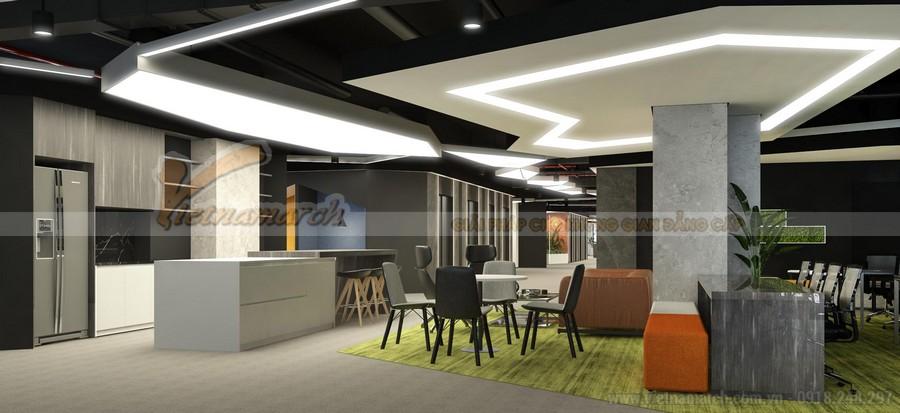 Thiết kế khu vực ăn uống, giải trí trong văn phòng Golden West Thanh Xuân