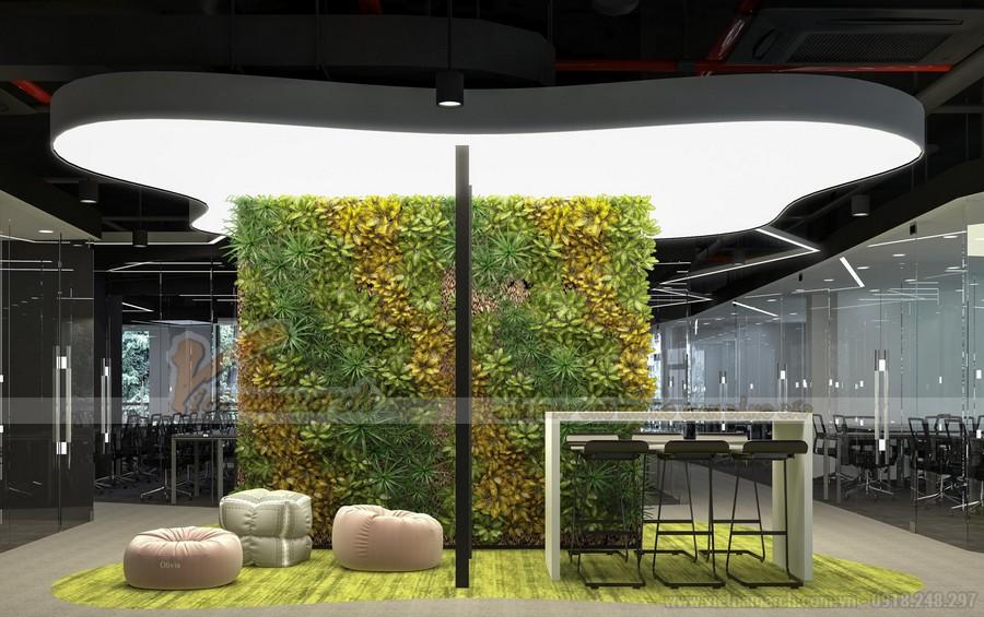 Thiết kế khu vực ăn uống, giải trí trong văn phòng Golden West Hà Đông
