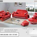 19 mẫu phòng khách đậm chất sành điệu với sofa đỏ
