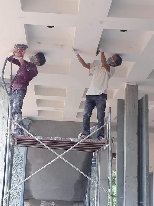 Cận cảnh quá trình thi công nhà thờ họ Bùi Việt Nam tại Vĩnh Phúc