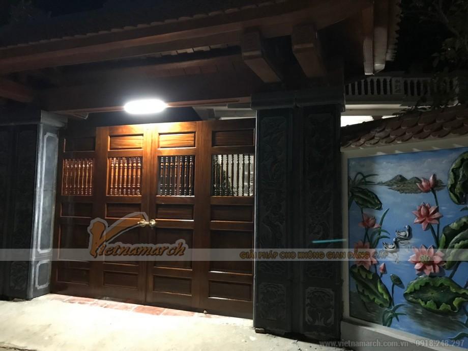 Thi công nhà thờ tổ 3 gian 2 mái bê tông sơn giả gỗ tại thanh hóa