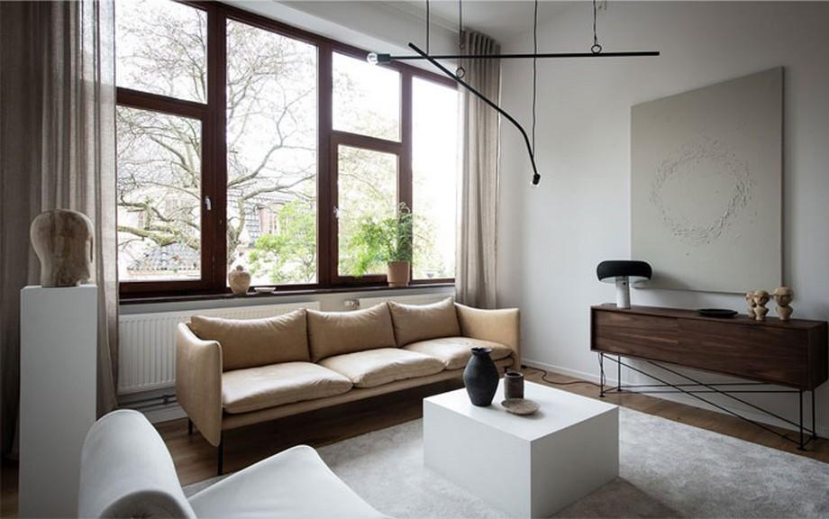 Thiết kế nội thất phòng khách trong căn hộ nhỏ tinh tế