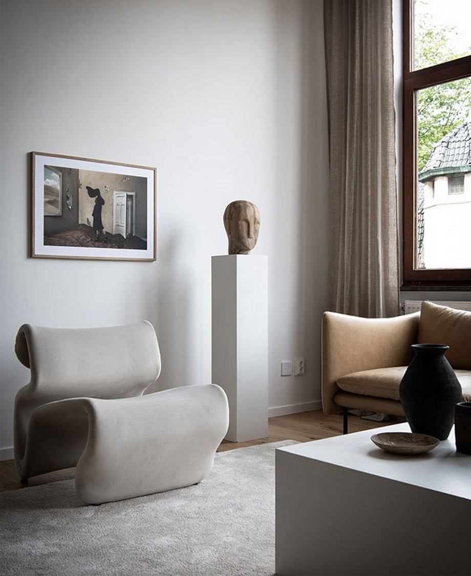 Thiết kế căn hộ nhỏ với chất liệu gỗ tự nhiên