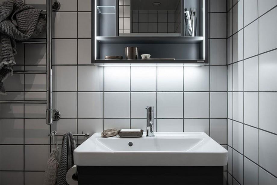 Thiết kế nội thất phòng tắm trong căn hộ nhỏ