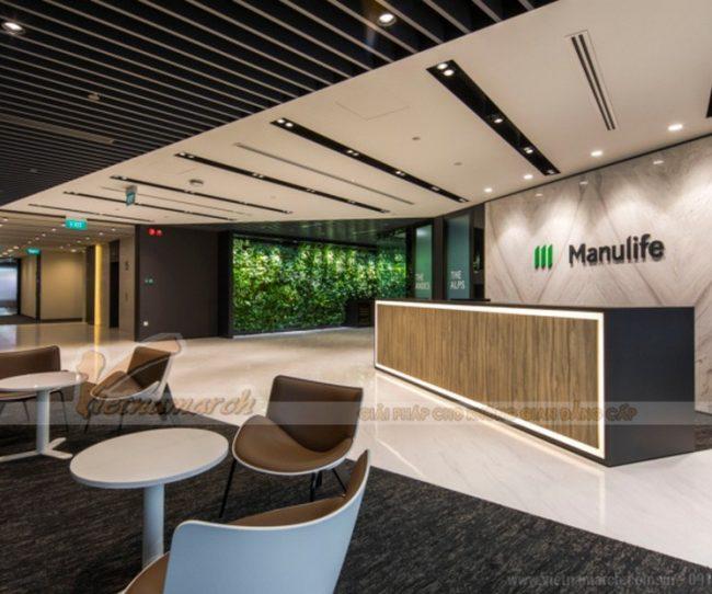 Thiết kế nội thất văn phòng công ty bảo hiểm Manulife Hồ Chí Minh