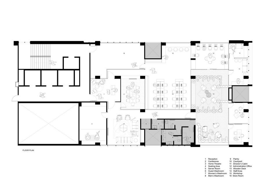 Thiết kế văn phòng 2 trong 1 đầy sáng tạo