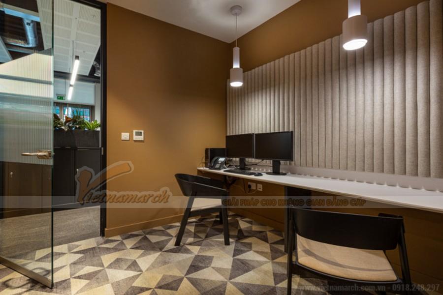 Thiết kế khu vực làm việc chung công ty bđs Savills