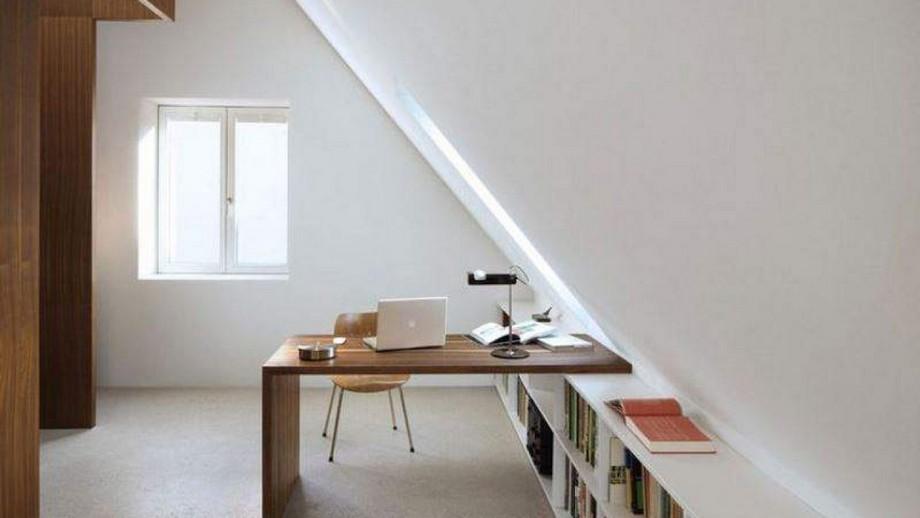 Thiết kế bàn làm việc gắn tường thông minh nhờ tận dụng trần tường sẵn có