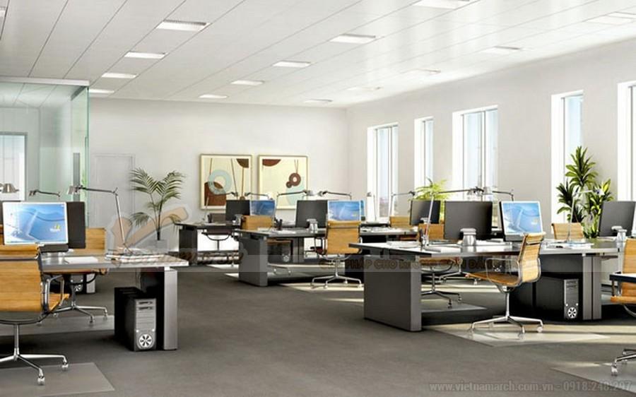 Thiết kế nội thất văn phòng luật sư không gian mở