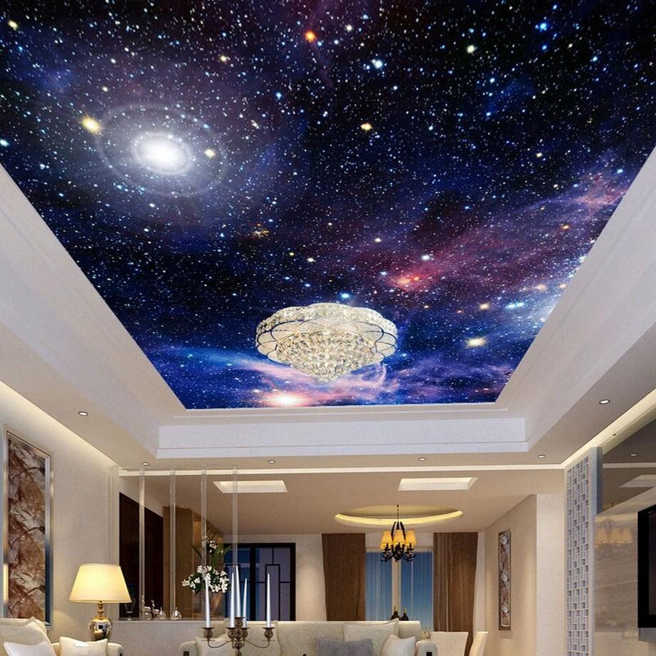 Trần xuyên sáng phòng ngủ galaxy