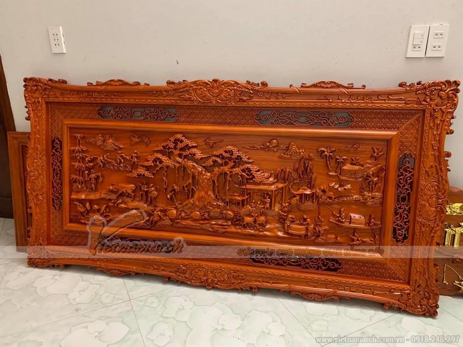 Tranh gỗ treo phòng thờ hợp phong thủy