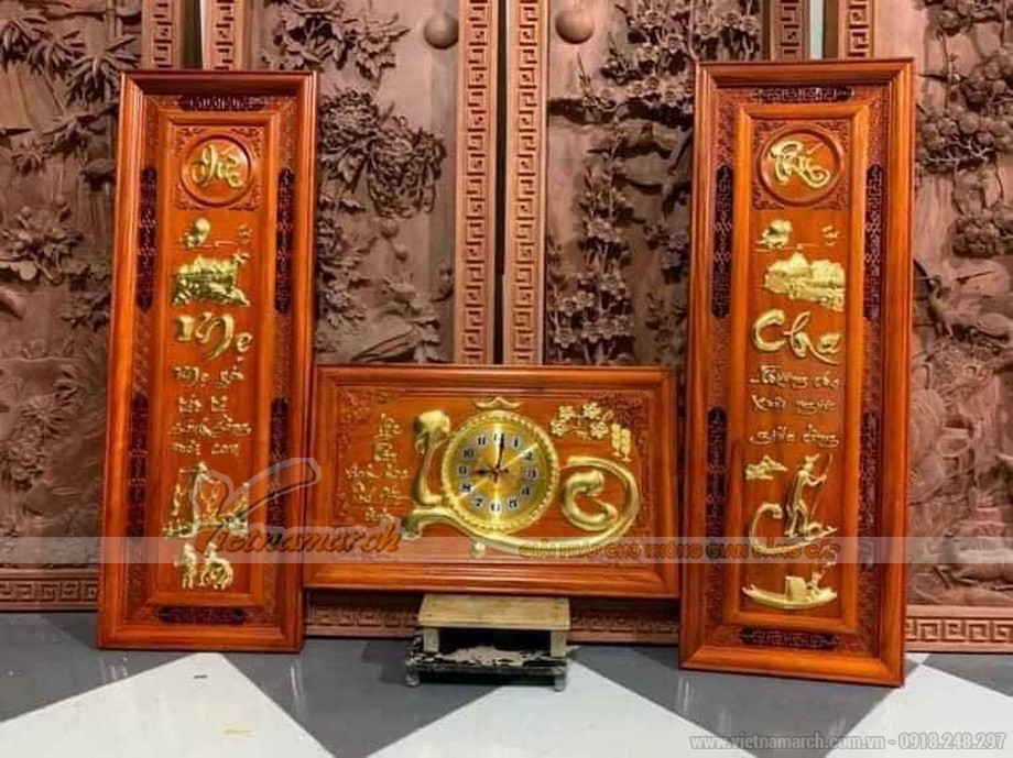 Tranh gỗ treo phòng thờ đẹp nhất