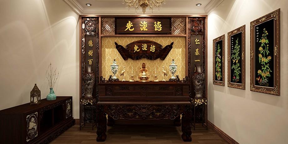 Tranh treo phòng thờ mang tính thẩm mỹ truyền thống
