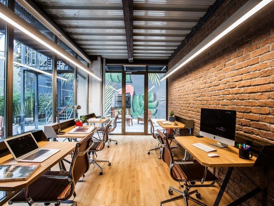 Phòng làm việc đẹp với bức tường mang đậm phong cách mới