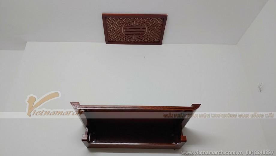 Hình ảnh lắp ban thờ tại chung cư Kim Văn Kim Lũ đẹp hiện đại