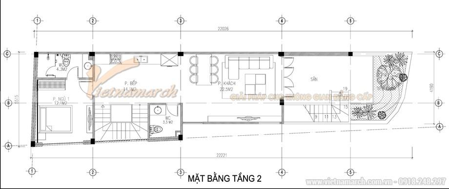 Bản vẽ thiết kế nhà ở 3 tầng cho gia chủ tại thái bình