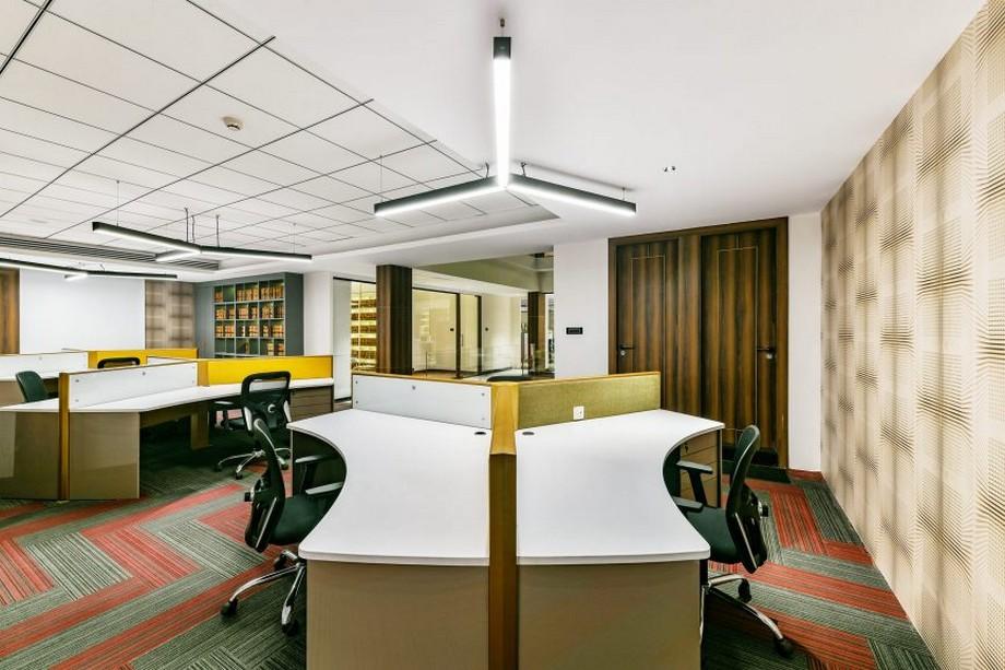 Thiết kế không gian làm việc chung cho nhân viên văn phòng công ty kiểm toán tài chính