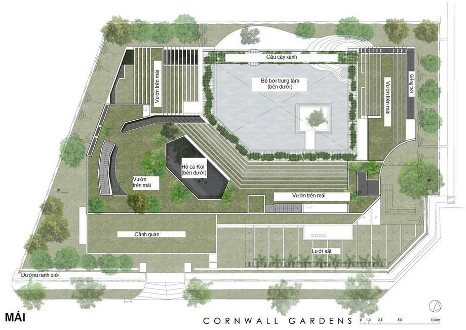 Bản vẽ thiết kế biệt thự vườn giữa lòng thành phố rộng 1500m2