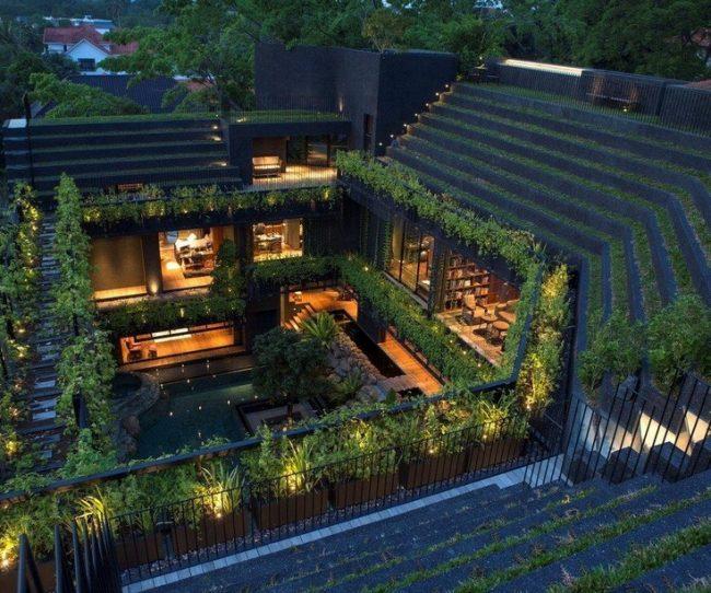 Sự phá cách độc đáo của biệt thự sân vườn trong lòng thành phố