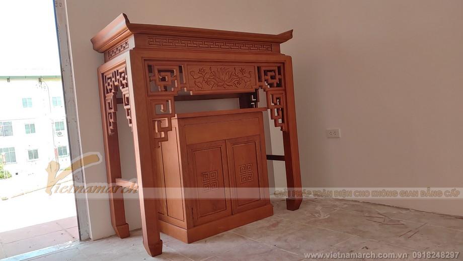 Mẫu bàn thờ đứng BTD 04 là mẫu bàn thờ quốc dân được ưa chuộng nhất