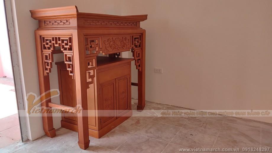 Vị trí để bàn thờ đứng được gia chủ xác định trước đó