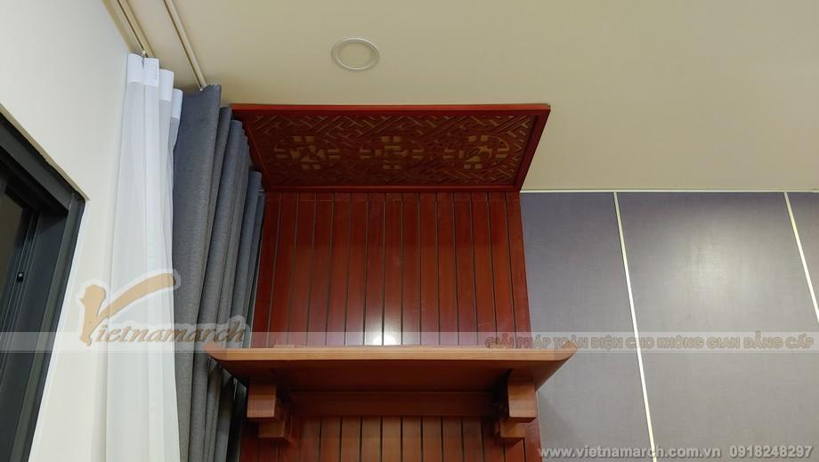 Bàn thờ gỗ sồi màu cánh gián