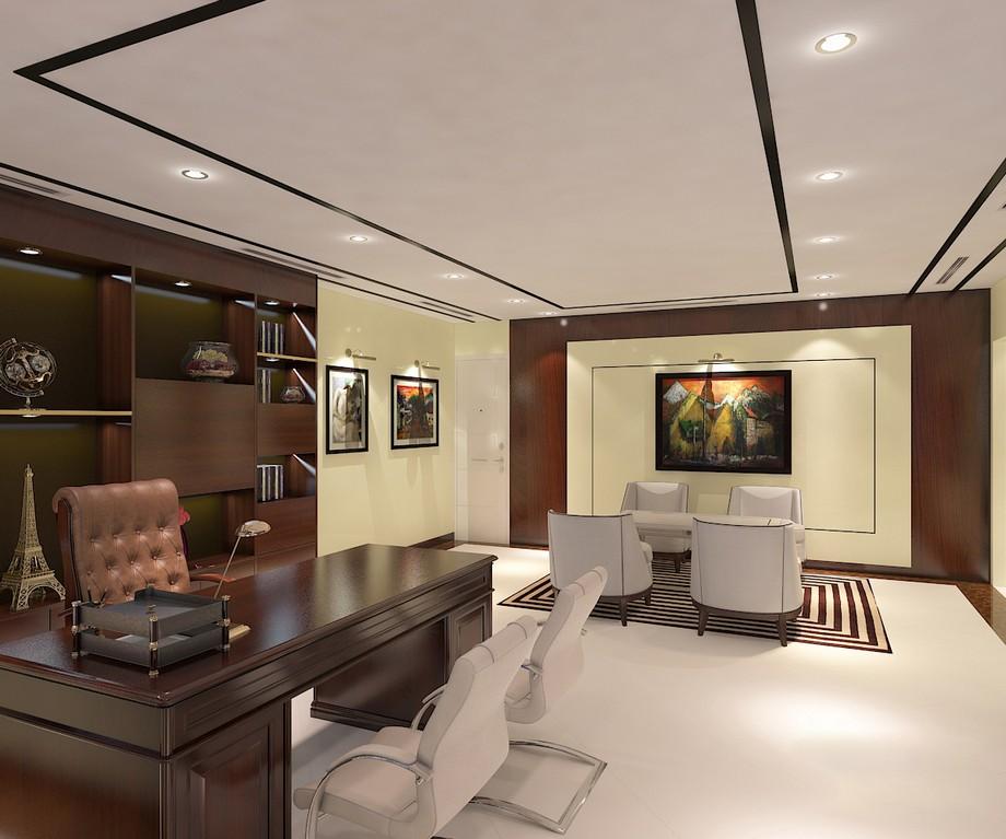 Thiết kế nội thất phòng giám đốc theo phong cách hiện đại