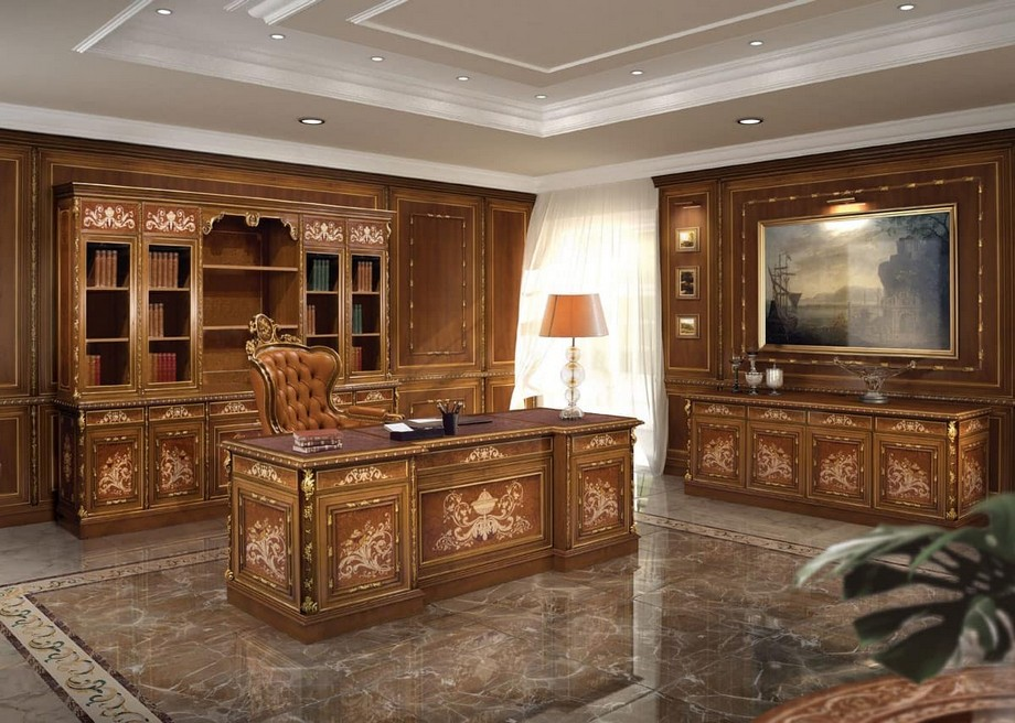 Thiết kế nội thất phòng giám đốc theo phong cách cổ điển