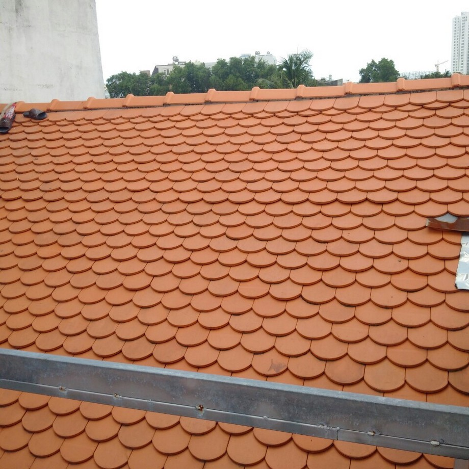 Ngói mũi hài (ngói vảy rồng) trong thiết kế mái nhà thờ họ