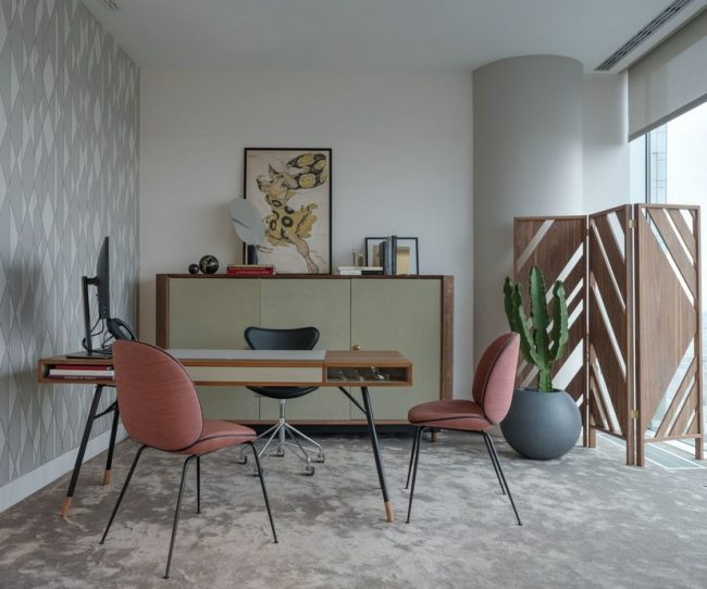 Phong cách thiết kế nội thất văn phòng đương đại