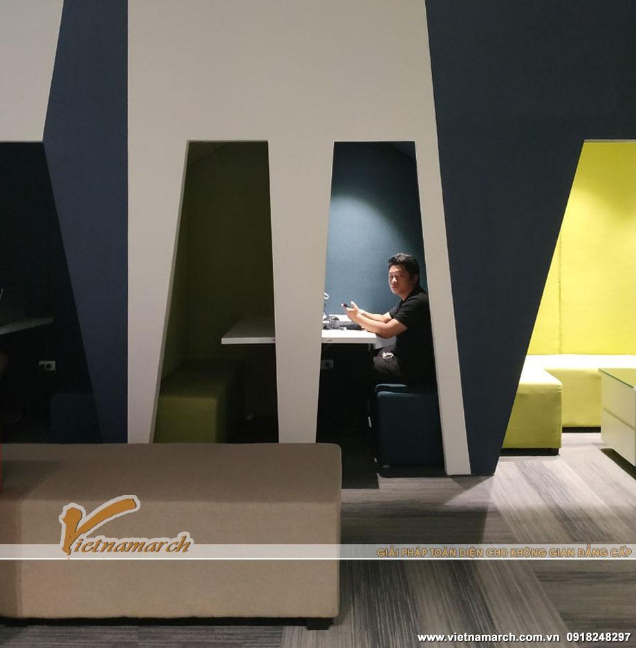 Không gian riêng tư: Booth ngồi làm việc kín đáo cho thiết kế văn phòng