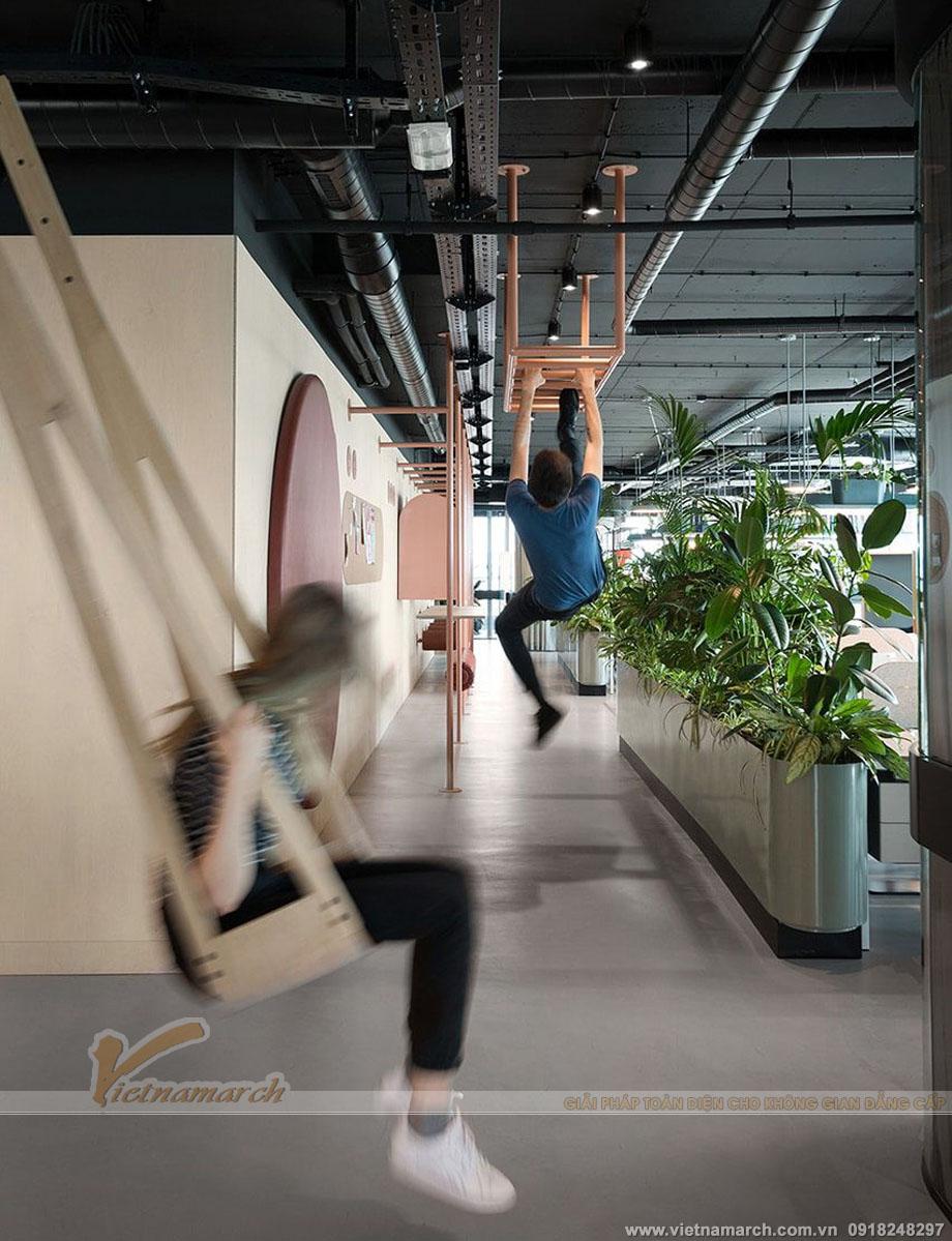Những ý tưởng giúp nhân viên văn phòng tăng cường vận động luôn được Vietnamarch chú trọng khi thiết kế văn phòng cho khách hàng.