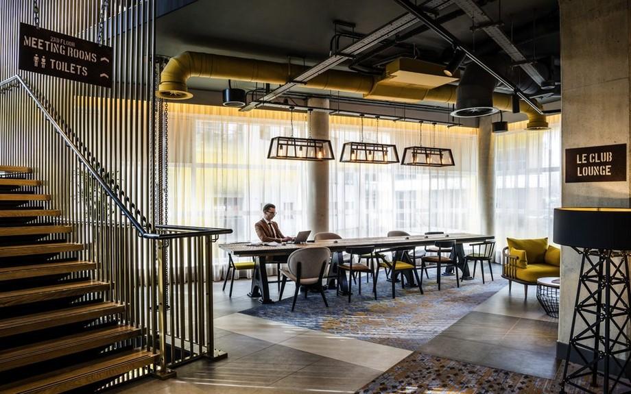 Thiết kế không gian làm việc chung tích hợp khách sạn