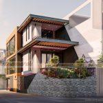 Dự án thiết kế nhà phố 3 tầng với diện tích sàn 98m2 tại thành phố Thái Bình