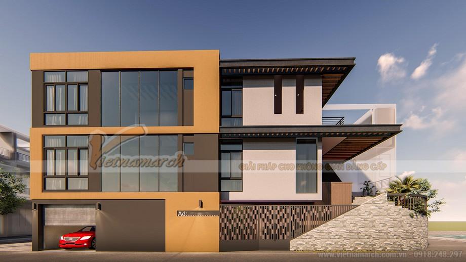 Dự án thiết kế nhà phố 3 tầng 98m2 tại thái bình
