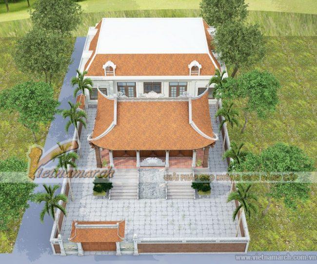 Thiết kế nhà thờ họ kết hợp nhà ở chuẩn phong thủy